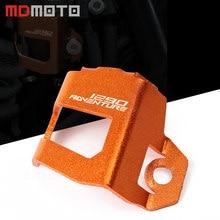 be3051fbea6 Accesorios de la motocicleta naranja trasero depósito de líquido de freno  Protector de cubierta para KTM