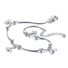 Новая мода серебряный лук кулон женщина браслеты. Solid 925 меры цепи браслеты. Милые девушки микки браслеты. Очаровательный леди ювелирные изделия