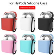 Silicone Cover Earphone Case For Huawei Honor FlyPods Fly Pods Pro Protective Cases For Freebuds 2 Pro Metal Carabiner Hook