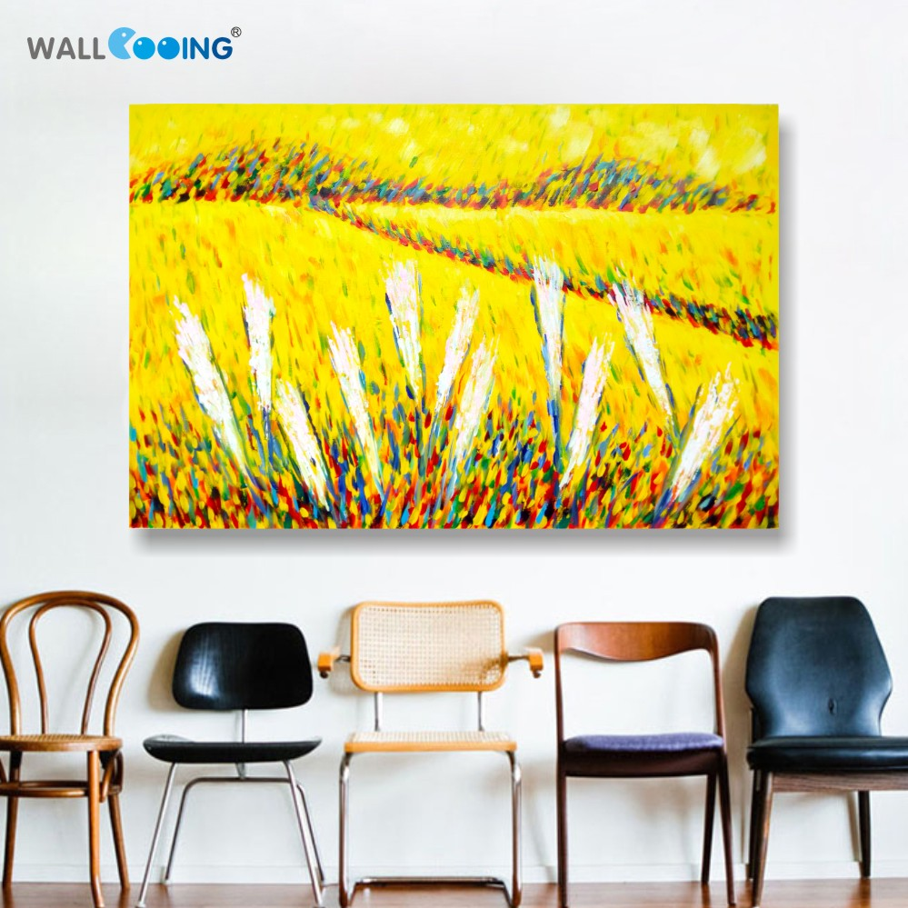 100% Hand-painted canvas painting artist Van Gogh paddy paint palette - Home Decor - Photo 1