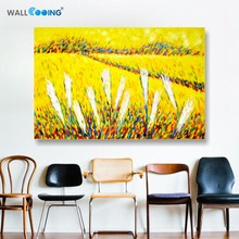 100% Hand-painted canvas painting artist Van Gogh paddy paint palette knife paintings art for wall decoration