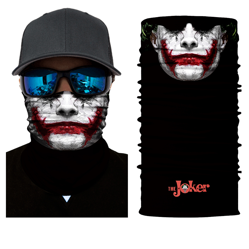 BJMOTO Halloween Skull Skeleton Outdoor Motorcycle Bicycle Multi function Headwear Hat Scarf Half Face Mask Cap Neck Ghost Scarf outdoor sports multi function seamless polyester head scarf red multicolored 3 pcs