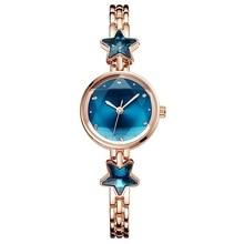 Fashion bracelet watch Creative diamond temperament female watch Simple small dial star water diamond English watch цена