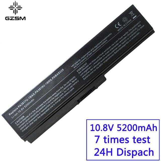 GZSM laptop batterie PA3817U 1BAS für TOSHIBA PA3817U 1BRS batterie für laptop L700 L730 L735 L770 L740 L745 L750 L755 batterie