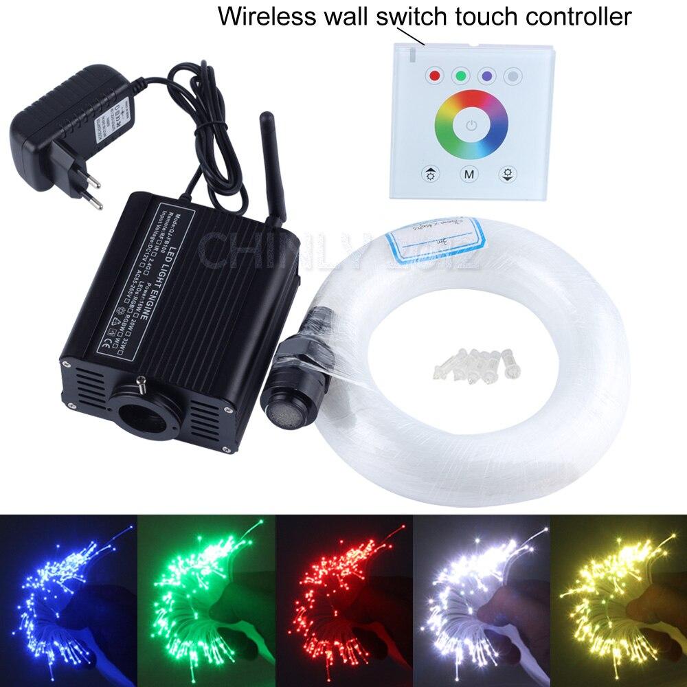 Светодиодный Оптическое волокно звездный свет комплект для потолков RGBW двигателя + Беспроводной контроллер выключатель + 550 шт. 0.75 мм оптиче