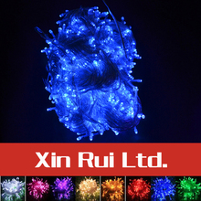 Waterproof 50 M 400 LED 220V EU 8 Flashing Mode Christmas Lights Outdoor New Year Lights Christmas Decorations For Home