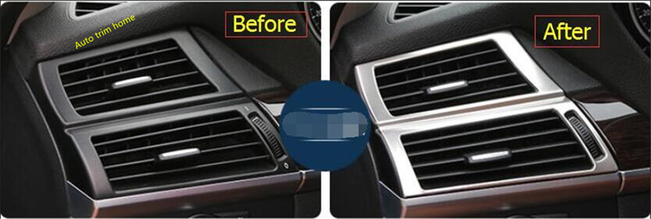 For BMW X5 E70 2009 - 2013 / X6 E71 2010 - 2014 Stainless Steel Side Air AC Conditioning Outlet Vent Molding Garnish Cover Trim