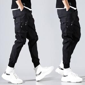 Image 2 - hip hop men pantalones hombre kpop casual cargo pants skinny sweatpants joggers modis streetwear trousers harajuku track pants
