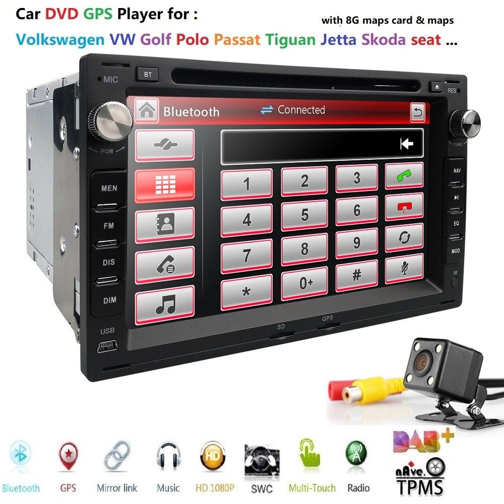 Livraison gratuite 7 pouces 2din lecteur DVD voiture GPS Radio pour ancienne VW PASSAT B5 B6 Transporter T4/T5 Bora Passat Mk5 Golf Mk4 Polo Jetta