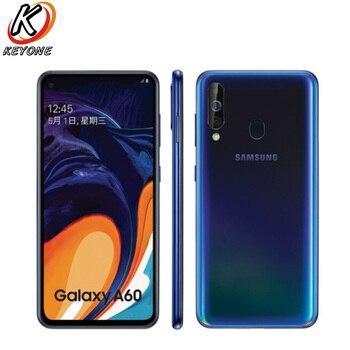 Перейти на Алиэкспресс и купить Мобильный телефон Samsung Galaxy A60 LTE, экран 6,3 дюйма, 6 ГБ ОЗУ 64/128 Гб ПЗУ, Восьмиядерный процессор Snapdragon 675, камера 32 Мп + 8 Мп + 5 Мп