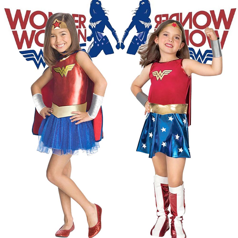 childs wonder woman costume deluxe toddler girls super dc heroes cosplay outfit fancy dress halloween costumes - Heroes Halloween Costumes