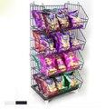 Cesta de arame fio cremalheira de exposição de mercadoria prateleiras removíveis prateleira de supermercado cesta de Armazenamento Holders & Racks acessórios