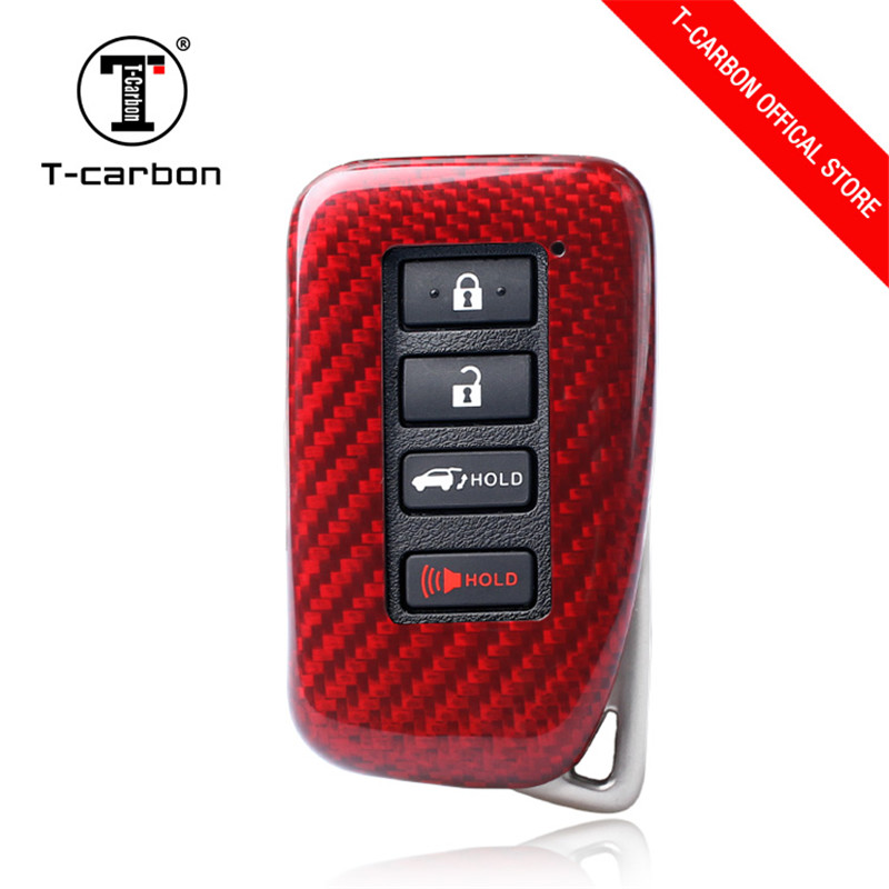 2019Real Carbon Fiber Car Key Cover For Lexus CT200H GX400 GX460 IS250 IS300C RX270 ES240 ES350