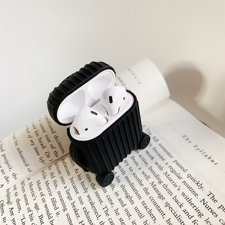 Image 3 - For AirPods Case Fashion Cute Suitcase Trunk Case For Apple Airpods 2 i10 i11 Luggage Bluetooth Wireless Earphone Protect Cover-in Earphone Accessories from Consumer Electronics