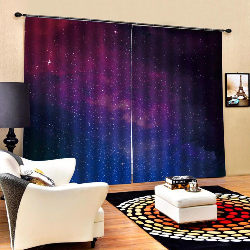 Purple Star Curtain Luxury Blackout