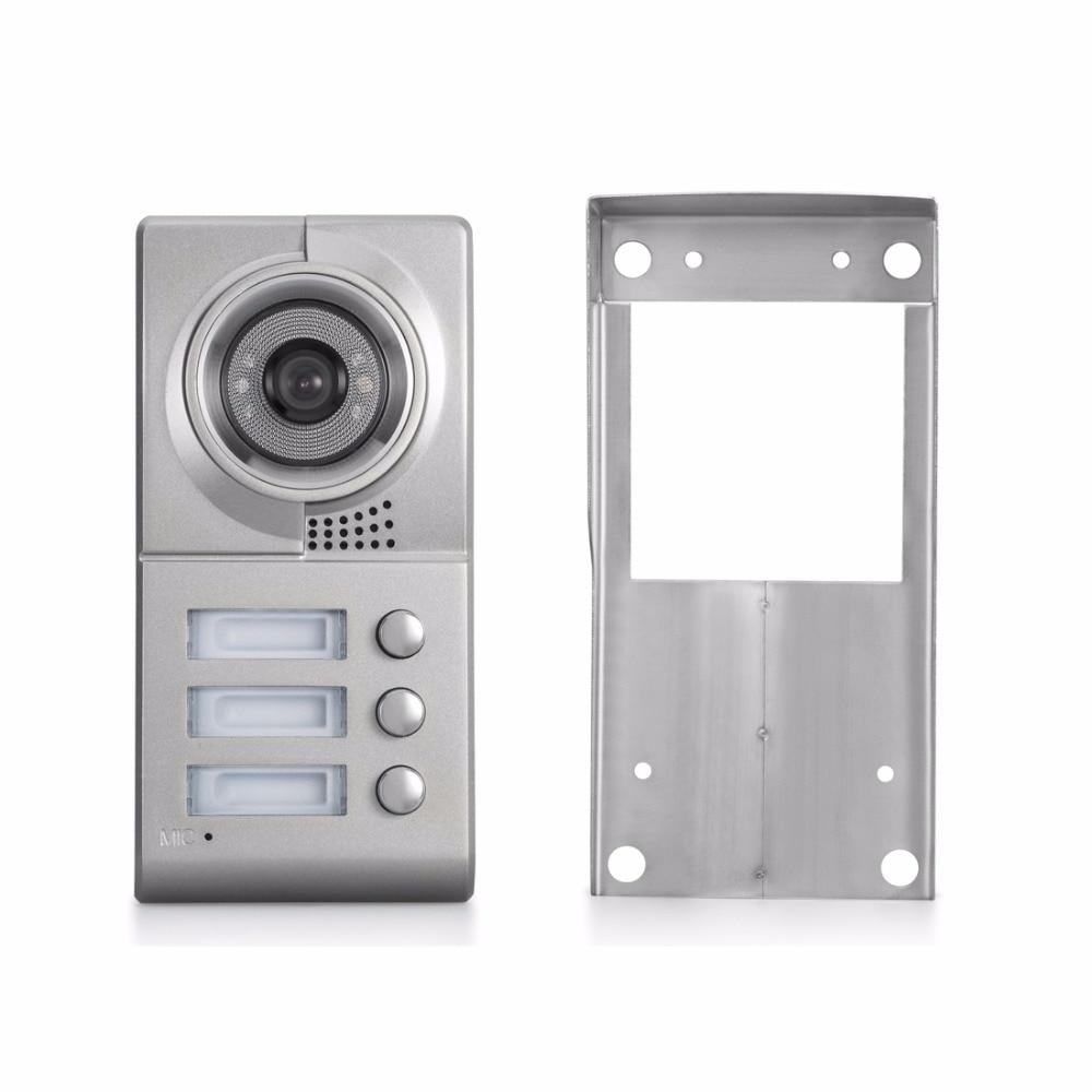 US $249.0 |Apartment intercom verdrahtete türklingel zwei gegensprech  system 1 klingel kamera 3 tasten für 3 wohnungen in Apartment intercom ...