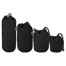 4 шт. DSLR Камера объектива сумка неопрена Мягкая сумка Водонепроницаемый чехол S + M + L + XL Размеры