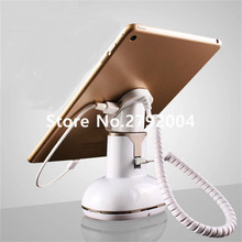 10pcs/lot white color mini size with charging function anti theft security holder stand for ipad mini