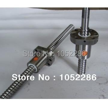 1 pièces RM1204-500mm arbre à vis guide + 1 pièces SFU1204 écrou simple avec bout usiné pour CNC