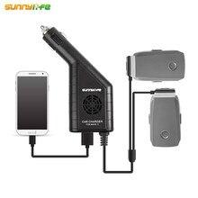 Mavic 2 автомобиля Зарядное устройство 3-в-1 двойной Батарея Зарядное устройство с USB Автомобильное Зарядное устройство дистанционного Зарядное устройство для DJI MAVIC 2 PRO & ZOOM Drone Батарея зарядки