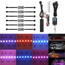 RGB музыка Управление Беспроводной удаленного водить автомобиль мотоцикл свет лампы Атмосфера с Smart стоп акцент неоновый Стиль свет комплект