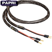 PAPRI MPS M 6 MK2 SP 99.99997% OCC Audio Wire HiFi Cable 24K Gold Plated Connector Speaker Banana Plugs Amplifier Cables