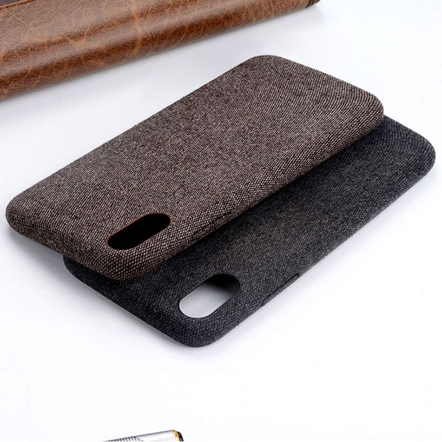 size 40 8e373 e0cec US $3.18 25% OFF|For iphone x Case Fashion Linen Cloth coque Phone Cases  For iphone X Cover Protective Phone Accessories capa-in Fitted Cases from  ...