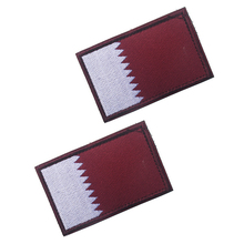 5pcs/lot Asian flag Qatar Patches 3D stickers Personality Embroidery badges Patch for clothes clothing