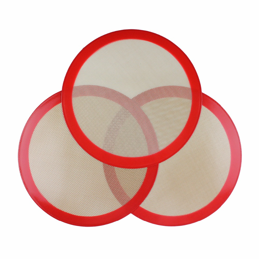 Oven Baking Mat Induction Liner Heat Resistant Resuable Non Stick Oven Liner Table Mat 230mm(9'') Round Octagon Shape