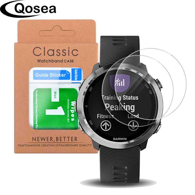 US $4 39 12% OFF|(2 PACK) For Garmin Forerunner 645 9H Tempered Glass For  Garmin 645 235 920XL S60 Fenix 5S Vivoactive 3 Watch Screen Protector-in