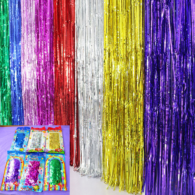 Rain Curtain Multicolor 5bags/lot Scene Props Photo background ...
