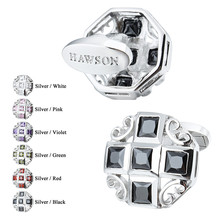 HAWSON Luxury Cufflinks Shiny Crystal Wedding Gift French Shirt Cufflinks High Quality