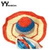 Handmade Beach Hats Women Summer Sun Visor Cap With Wide Brim Girls Colorful Foldable Sunhats Tassel
