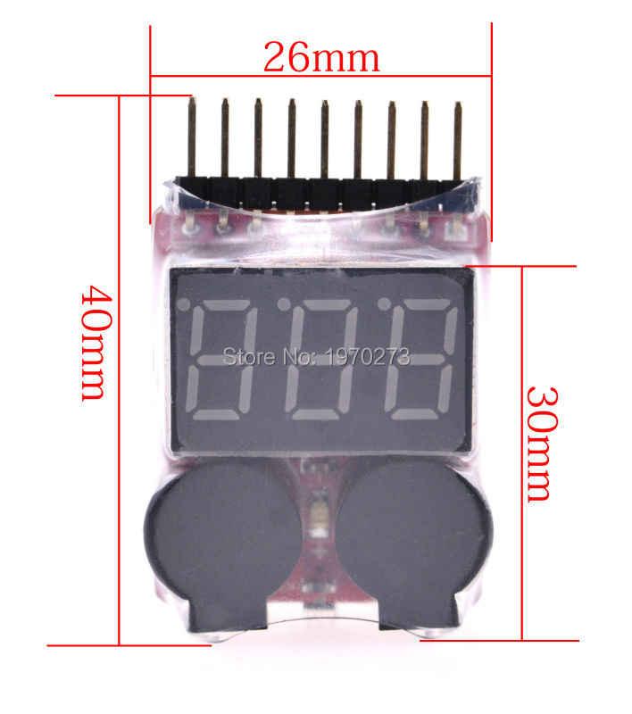 El más nuevo 1-8 S Lipo/Li-ion/Fe de voltaje de la batería 2IN1 de baja tensión timbre de alarma Venta caliente