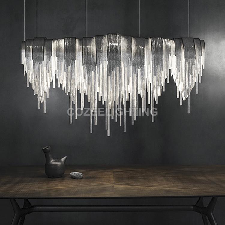 Antik luksus lysekrone belysning aluminium kæde lysekroner hængende - Indendørs belysning - Foto 2