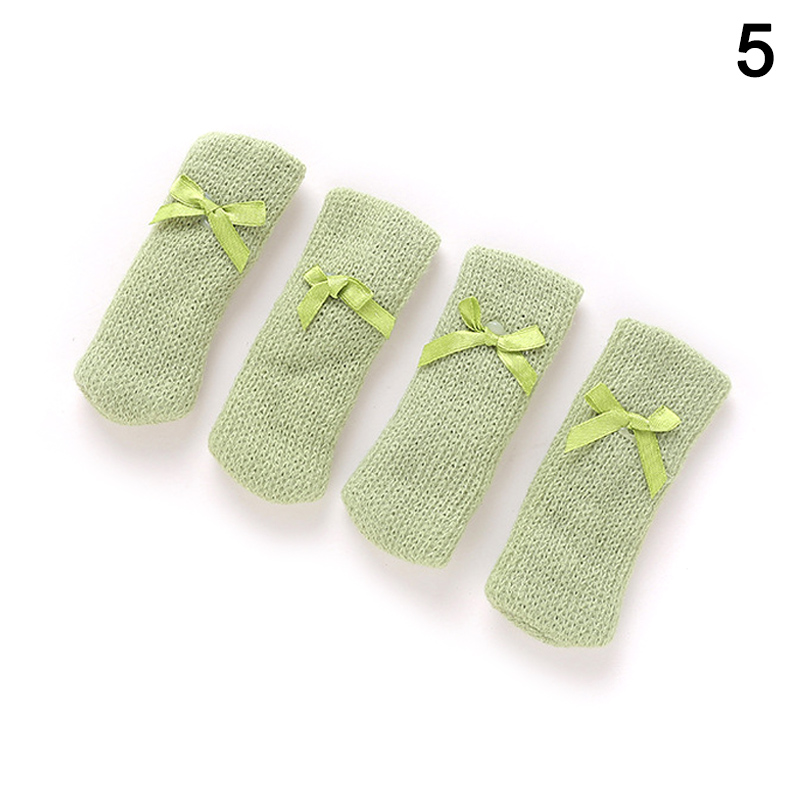 4 Pcs Knitting Table Chair Foot Leg Cover Sleeve Socks Floor Protector Home Dining Room 66CY