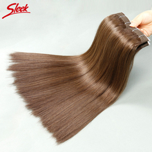 Sleek 18-25-Year-Old Girl With Healthy Hair 6# Straight Brazilian 113g/Pcs Brazilian Virgin Hair Very Soft & Thick End 3pcs/Lot