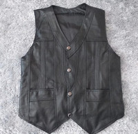 New Leather Vests Genuine leather sheepskin Man Slim Casual Vest Sleeveless jacket Men Tops Waistcoat