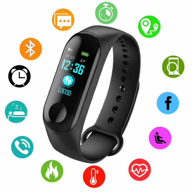 BOAMIGO Color IPS Screen Smart Sport Fitness Watch Bracelet IP68 Waterproof Blood Pressure Oxygen Activity Tracker For Men Women
