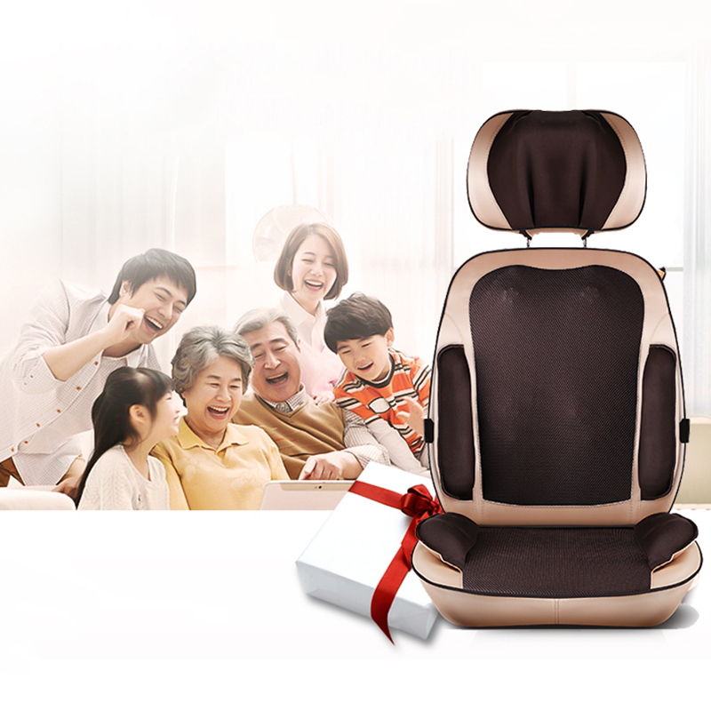 Cervical Back Massage Device Neck Massage Chair Pad Waist Full-body Multifunctional Household Massager Mat Pad Cushion tapping massage cushion 3d new massager whole body massage chair mat for sale