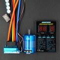 Sensored Sin Escobillas 3650 540 8.5 T 13.5 TMotor + HY 120A impermeable Sensored ESC Tarjeta de Programa + Combo Set Para 1/10 rc carTruck
