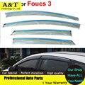 car styling Window Visors For Ford Foucs 3 Sedan Hatchback 2012 2013 2014 2015 Sun Rain Shield Stickers Awnings Shelter