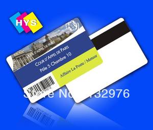 High quality Magnetic stripe Card and pvc business card Printing
