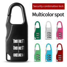 3 Dial Digit Password Combination Padlock Suitcase Luggage Metal Code Lock Mini Coded Keyed Anti-Theft Locks 3 digit compact padlock assorted color
