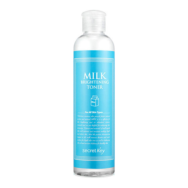 CLAVE SECRETA Leche Brillo de Tóner 248 ml piel Radiante, Aceite de equilibrio de humedad