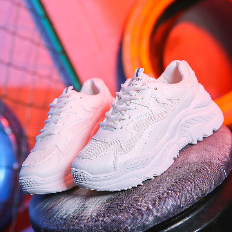2018 new sports Korean version of the summer flame women's shoes clunky sneaker ulzzang Harajuku shoes mixed color breathable
