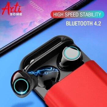 Artisome беспроводные Bluetooth наушники TWS наушники Bluetooth стерео V4.2 Bluetooth наушники с микрофоном и зарядным чехлом