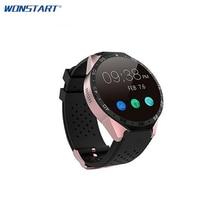 2017 Smartwatch 3G Kingwear KW88 400 400 Smart Watch Calling 2 0MP Camera Pedometer Heart Rate