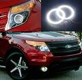 Для Ford Explorer 2011 2012 2013 2014 2015 Отлично led Angel глаза Ультра яркое освещение smd led Angel Eyes Halo Кольцо комплект