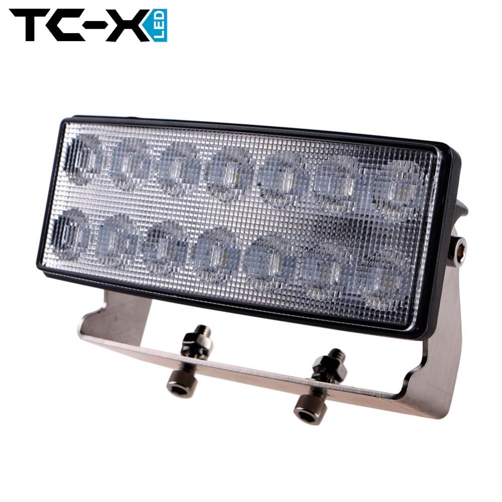 TC-X 4 Inch 42W LED Work Light Bar Flood Light Headlight for John Deere Truck Trailer Off Road Lighting 4WD ATV UTV SUV